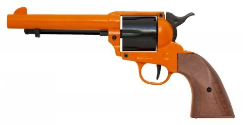 Bruni Blank Firing Revolver - single action - orange - 6 shot