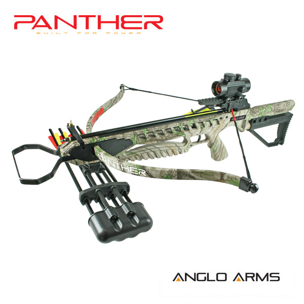 175lb anglo arms camouflage panther crossbow kit with for Crossbow fishing kit